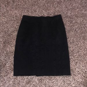 Banana republic black work skirt size 0